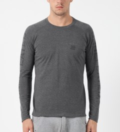 Undefeated Dark Grey Heather Technical II L/S T-Shirt Model Picture