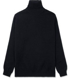 ami Black Turtleneck Knitted Sweater Picture