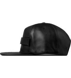 Stampd Black Velcro Lambskin Snapback Cap Model Picutre
