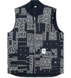 Stussy Navy Bandana Reversible Vest Picture