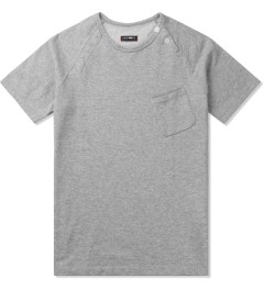 CASH CA Grey Raglan Sweat S/S T-Shirt Picture