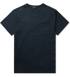 JohnUNDERCOVER Navy Side Stitch S/S Pocket T-Shirt Picture