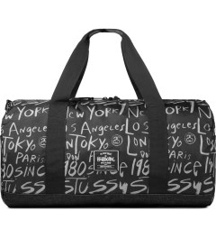 Stussy Black Print Stussy x Herschel Supply Co. Cities Large Duffle Bag Picture