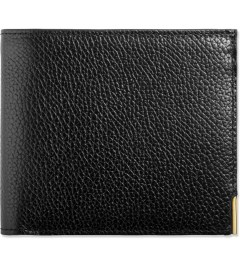 Thom Browne Black Grained Leather Bi-Fold Wallet Picture