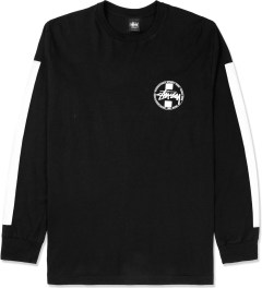 Stussy Black Worldwide L/S Dot T-Shirt Picture