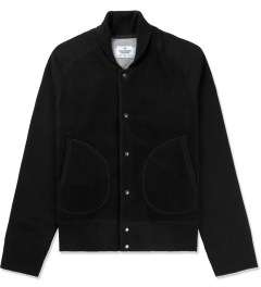 Reigning Champ Black RC-3241-1 Polartec L/S Varsity Jacket Picture