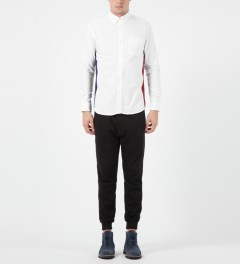 Liful White Oxford Colorblock Shirt Model Picture