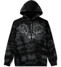 Raised by Wolves Black Tie-dye Wolfpack Pullover Hoodie Picture