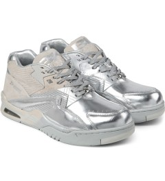 British Knights Silver Chrome Control Mid Sorayama Shoes Model Picutre