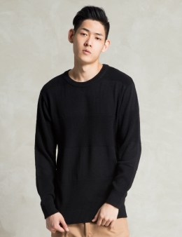 i love ugly. Black Merino Knit Crew Picture