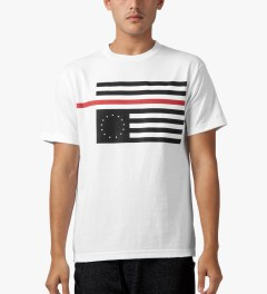 Black Scale White Rebel Red Flag T-Shirt Model Picutre