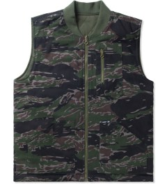 HUF Olive Camo/Reversed Tiger Camo  Reversible Vest Picture