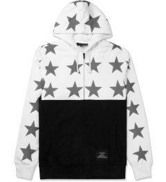 Black Scale White Just Black Hoodie Picture