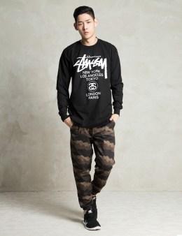 Stussy Black LS World Tour T-Shirt Picture