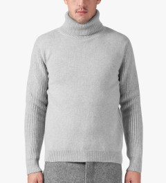ami Grey Turtleneck Knitted Sweater Model Picture