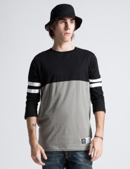 Stussy Black Football 3/4 Jersey Picture