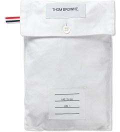 Thom Browne White Oxford Boxer Model Picutre