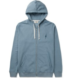 Lightning Bolt Provincial Blue Forever Triblend Fleece Zip Hoodie Picutre