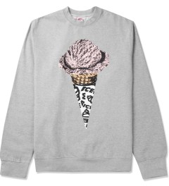 ICECREAM Heather Grey Lux Cone Crewneck Sweater Picutre