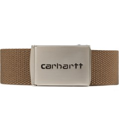 Carhartt WORK IN PROGRESS Hamilton Brown Chrome Clip Belt Picutre