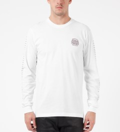 The Quiet Life White Tasty Waves L/S T-Shirt Model Picture