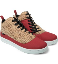 Gourmet Striped Cork/White Dieci 2 Cork LX Shoes Model Picture