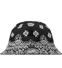 Black Scale Black Bandana Bucket Hat Model Picture