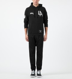 Stussy Black LA 80 Hoodie Model Picture