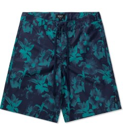 HUF Navy Floral Boardshorts Picture