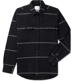 SATURDAYS Surf NYC Black Angus Heavy Twill L/S Stripe Shirt Picutre