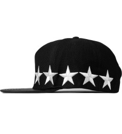 Stampd Black/White Liberty Mesh Snapback Cap Model Picture