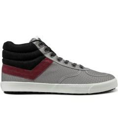 PONY Light Grey/Burgundy Slamdunk VULC Hi Sneakers Picutre