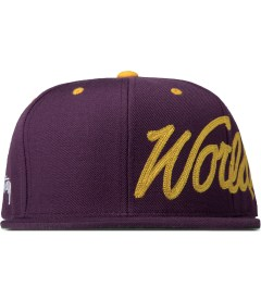 Stussy Purple Worldwide Snapback Cap Picutre