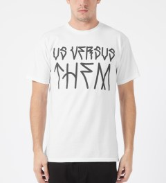 Us Versus Them White Paulo T-Shirt Model Picture