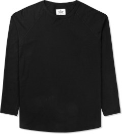 Reigning Champ Black Solid Jersey L/S Raglan T-Shirt Picture