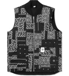 Stussy Black Bandana Reversible Vest Picture