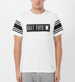 Daily Paper White Box Logo T-Shirt Model Picture