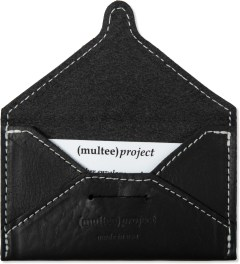 (multee)project Black Leather Envelope Card Case Model Picture