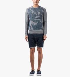 Thing Thing Navy Grain Shinobi Shorts Model Picutre