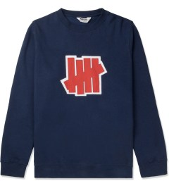 Undefeated Indigo Double 5 Strike Crew Sweater Picutre