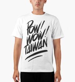 POW! WOW! Black on White 2014 POW! WOW! Taiwan T-Shirt Model Picutre