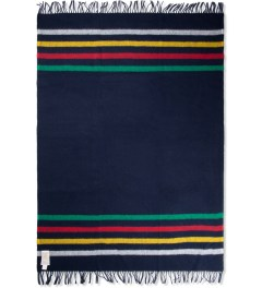 Hudson's Bay Company Navy Multistripe Caribou Throw Blanket Picutre