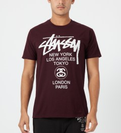 Stussy Wine World Tour T-Shirt Model Picture