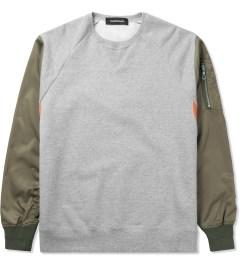 PHENOMENON Heather Grey MA-1 Sweater Picutre