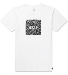 HUF White Skulls Box Logo T-Shirt Picture