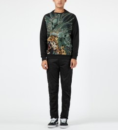 maharishi Black Pixelated Crewneck Sweater Model Picture