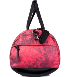 SATURDAYS Surf NYC Red Mineral Print Ruba Duffle Bag Model Picture