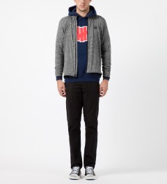 Undefeated Heather Grey Technical II Full Zip Jacket Model Picture