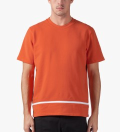 Opening Ceremony Burnt Orange Zipper Gusset T-Shirt Model Picture