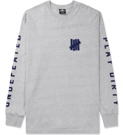 Undefeated Heather Grey Official L/S T-Shirt Picture